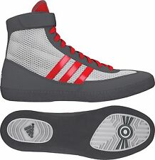 Adidas Youth Kids Combat Speed 4 Wrestling Shoes AQ3267 White/Red/Grey