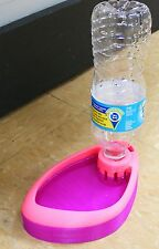 PET DRINKING WATER DISH POND DISPENSER FOUNTAIN BOTTLE 3D PRINTED - MADE IN USA