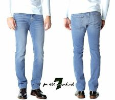 NWT $208 7 FOR ALL MANKIND SLIMMY SLIM STRAIGHT HIGH TIDES JEANS. SZs: 31,32,33