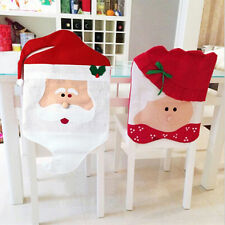 Mr/Mrs Santa Claus Dining Chair Covers Christmas Decorations Xmas Festive PartyW