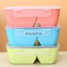 Square Plastic Separate Lunch Box Microwave School Office Bento Box