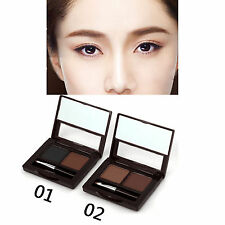 New 2 Color Eyebrow Powder Brow Cake with Brush Set & 2 Eyeliner Pencil As Gift
