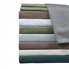 Luxury King Bed Sheet Set-100% Bamboo Viscose 600 Thread Count Solid Sheets