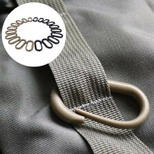 10 Pcs Locking U-Ring Carabiner Buckle Keychain Ring For Webbing Backpack