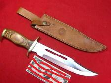 TIMBER RATTLER TR88 LARGE BOWIE BLADE KNIFE & LEATHER SHEATH