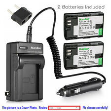 Kastar Battery and Normal Charger Kit for Canon LP-E6 5D Mark II 6D 7D 70D 80D