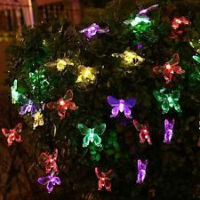 20LEDs Solar Powered butterfly Fairy String Xmas Tree Party Decor Lights Outdoor