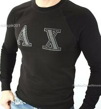 ARMANI EXCHANGE Mens Signature AX Graphic Logo Crew Sweatshirt Pullover Top NWT
