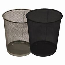 METAL MESH WASTE PAPER RUBBISH BIN BINS HOME OFFICE USE BATHROOM WASTEBASKET