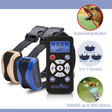800Yards Dog Training Waterproof&Rechargeable E-Collar Automation Remote Contron