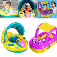 Inflatable Kids Baby Float Seat Boat Beach Car SunShade Water Swimming Pool Car