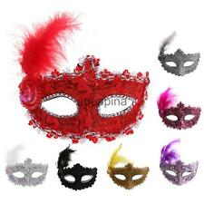 Fancy Dress Feather Lace Eye Mask Masquerade Halloween Party Supplies