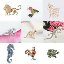 Mixed Animals Shape Crystal Pin Brooch Fashion Jewelry Party Gifts