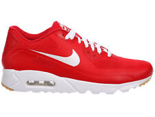 NEW MENS NIKE AIR MAX 90 ULTRA RUNNING SHOES TRAINERS UNIVERSITY RED / WHITE