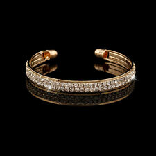 Fashion Style Gold Crystal Rhinestone Bangle Cuff Bracelet Jewelry New Women 1pc