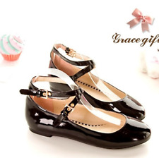 Womens Flat Mary Janes Ankle Cross Strap Shoes sweet Lolita cosplay#US SIZE 4-11