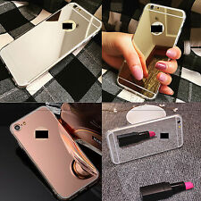 MIRROR REFLECTIVE BACK SOFT GEL COVER CASE FOR IPHONE 6S 6 & PLUS IPHONE SE 5S 5