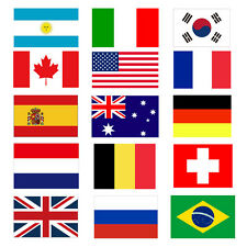 3'x5' FT World Country National Polyester European America Asia Flags
