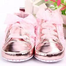Infant Baby Girls Rose Flower Soft Sole Toddler Princess Crib Shoes 0-12 Month