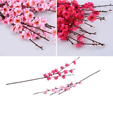 1/5pcs Artificial Silk Flower Cherry Spring Blossom Plum Peach Branch Home Decor