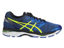 NEW MENS ASICS GEL-CUMULUS 18 RUNNING SHOES TRAINERS IMPERIAL / SAFETY YELLOW