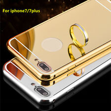 Luxury Mirror Back Cover Skin Metal Aluminum Frame Case For iPhone 7 4.7& 7 Plus