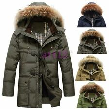 Fur Collar Hooded Men Duck Down Warm Parka Snow Thick Coat Outwear Jacket Winter