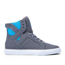 SUPRA KIDS SKYTOP CHARCOAL / NEON - BLUE / WHITE