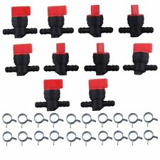 "1/4""5/10pc Inline Straight Fuel Gas Cut-Off Shut-Off Valve Petcock Motorcycle"