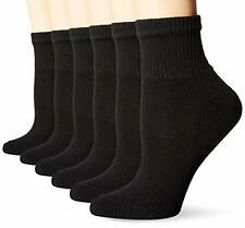 Hanes Womens Socks UC126 Ultimate Ankle  (Pack of 6)- Choose SZ/Color.