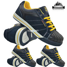 MENS LADIES SAFETY TRAINERS GROUNDWORK STEEL TOE CAP LACE UP WORK BOOTS SHOES