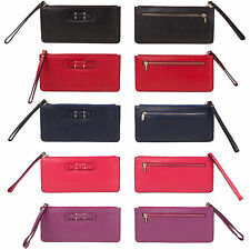 High quality real leather card and change holder purses with bow design in vario