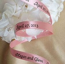 Personalized Double Face Satin Printed Ribbon for Wedding Decorations Favors