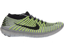 NEW MENS NIKE FREE RN FLYKNIT RUNNING SHOES TRAINERS WOLF GREY / VOLT / COOL GRE