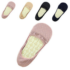 2/5Pair Invisible Antiskid Women Liner No Show Slipper Lace Boat Sock New