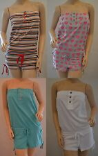 TOPSHOP Bandeau All In One Playsuit Shorts Size 6 8 10 12 14 Petite FREE P&P K1