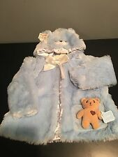 New with tags: Baby Gund - My First Teddy Coat - Blue (Size 3-6 Months)