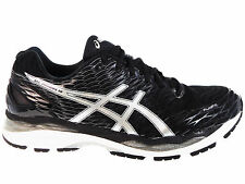 NEW MENS ASICS GEL-NIMBUS 18 RUNNING SHOES TRAINERS BLACK / SILVER / CARBON