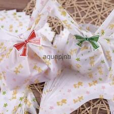 100 HomemadeCookie Soap Gift Candy Loot BAG Wedding Party Favor Decor Green/Pink
