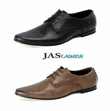 Mens New Smart Lace Up Office Wedding Italian Shoes Dress Work Formal Size UK