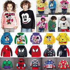 Kids Boys Girls Avengers Cartoon Hoodies Jumper Tops Hooded Jackets Sweatshirts