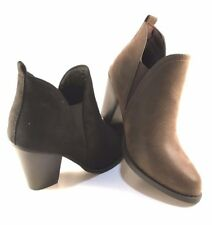 Pierre Dumas Denny-10 Thick Heel Pull On Ankle Booties Choose Sz/Color