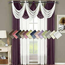 """Abri Grommet Crushed Sheer Window  50x96"""" Panel (Single) OR Waterfall Valaces"""