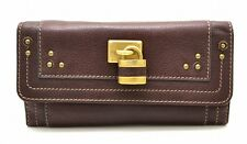 Chloe Paddington two-fold wallet leather brown-colored gold
