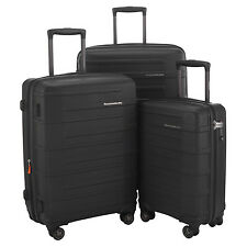 "HAUPTSTADTKOFFER Ost 20""24""28"" Luggage Suitcase Set Travel Bag TSA Trolley Black"