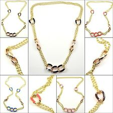 New Hot Fashion Colorful Resin Long Link Necklaces Choose