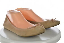 J Crew Womens Tan Ballet Flats Sz 8.5 Solid Slip On Suede Casual Shoes