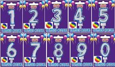 Happy Birthday Cake Number blue colour number Candle Cupcake Party  decoration