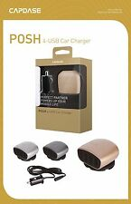 CAPDASE 6.2A POSH 4 USB Ports Car Charger For iPhone, Pads and smartphones