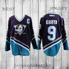 Anaheim Mighty Ducks Paul Kariya #9 Purple Hockey Jersey Men Ducks M-3XL
